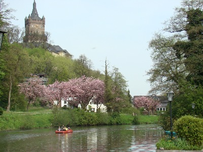 View on Huis te Cleeff from the river Kermisdahl